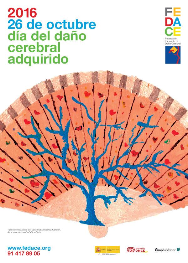 Cartel del Día del Daño Cerebral 2016. Fedace.org